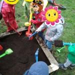 Spaß beim Umgraben!
